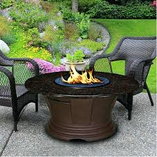round gas fire pit table elegant propane tables best