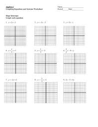 algebra 1 graphing equations and