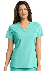 Clearance Barco One Womens V Neck Solid Scrub Top