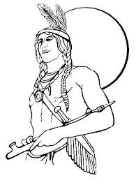 Small Picture Pilgrim Boy And Girl Outlines Native American Boy Colouring Page