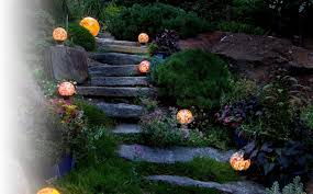 hand blown glass globes for garden landscape lighting