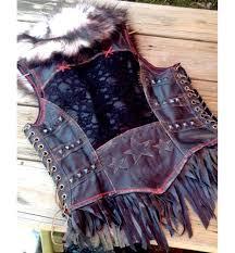 black viking vest