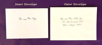 Envelope Wedding How To Address Wedding Invitations