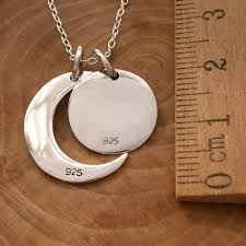 sterling silver i love you to the moon and back necklace swj103 4