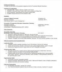 Resume Template Internship Word Internship Resume Example