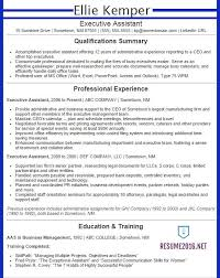 Executive Assistant Resume Samples 2015
