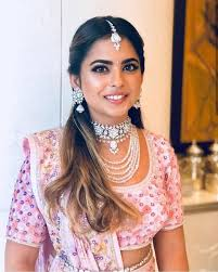 in love with how isha ambani twinned with her bhabhi to be shloka mehta for her sangeet her baby pink abu jani sandeep khosla lehenga choli with