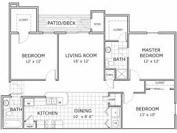 3 Bedroom Floor Plans New Decorating Design