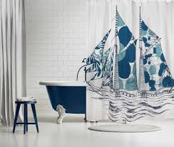 dazzle ship shower curtain design by thomas paul – burke decor