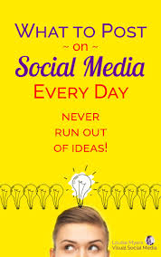 Know What To Post On Social Media Every Day! | Marketing strategy social  media, Visual social media, Social media