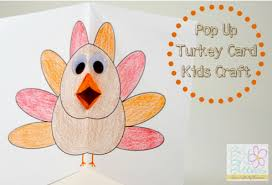 home made thanksgiving cards make an adorable turkey pop up card with the kids link includes