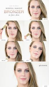 how to apply mineral makeup bronzer to fair skin