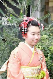 新日本髪風アレンジヘア 十三参り ヘアスタイル 卒業式 袴ヘア