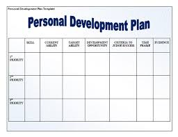 Personal Planner Template Personal Development Plan Format Free Word Templates
