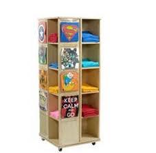 T Shirt Stand Display Maple Revolving Garment Display Apparel Racks Store Fixtures 67