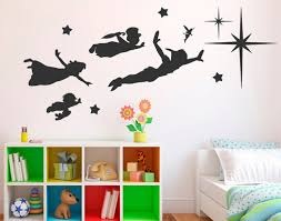 peter pan shadow wall decal classic cartoon peter pan wall stickers vinyl wall decals