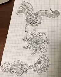patterns to draw on graph paper paper henna tumblr