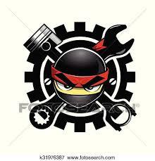 auto parts clip art. Perfect Art Clip Art  Ninja Auto Parts Logo Fotosearch Search Clipart Illustration  Posters Inside Parts R