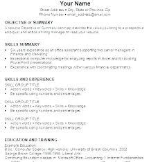 Basic Job Resume Templates Reluctantfloridian Com