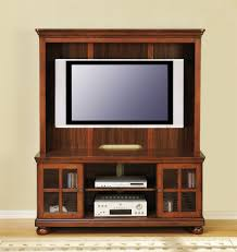 flat screen tv cabinet. Furniture. Dark Brown Wooden Tv Cabinet With Door On The Floor Connected By Beige Wall Flat Screen E