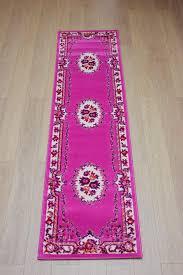 picture of retro classics alnwick pink oriental runner rug