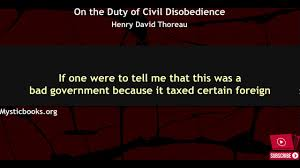 on the duty of civil disobedience on the duty of civil disobedience