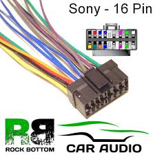 sony cdx series car radio stereo pin wiring harness loom bare sony cdx series car radio stereo 16 pin wiring harness loom bare wire lead