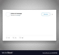 Modern Social Media Post Template Isolated On Vector Image
