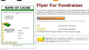 Fundraiser Template Flyer Free Fundraiser Template Flyer Fundraiser Brochure Template Fundraising