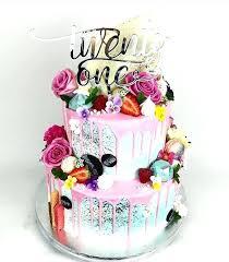 21 Birthday Cakes Black And Pink Cake 21st Birthday Cakes Female