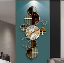 luxury fashion artistic wall clock