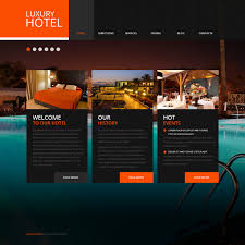 Website Template 43769 Hotel Luxury Motel Custom Website Template