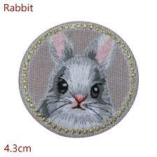 <b>1PC Cute</b> Animal Patch Panda Rabbit <b>Cat</b> Cartoon <b>Embroidery</b> Iron ...