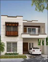 6 Marla House Front Design Front Views Civil Engineers Pk