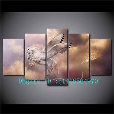 5 piece canvas prints. Exellent Prints 2018 Fantasy Art Unicorn Pegasus Canvas Prints Wall Oil Painting Home  Decor UnframedFramed From Q1416564970 1538  DhgateCom And 5 Piece Canvas N