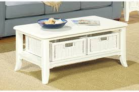 White Wood Coffee Table With Drawers Furniture Glamorous White Coffee Tables With Storage For Warm