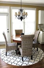 area rug for dining room table rugs to go under tables best round plans size