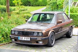 BMW Convertible bmw retro car : FRANKFURT AM MAIN, GERMANY - SEPTEMBER 16, 2013 Brown BMW E30 ...