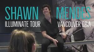 <b>Shawn Mendes Illuminate</b> World Tour - Vancouver Q&A - YouTube