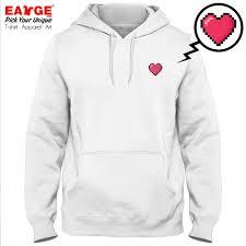 Design Your Fleece 2019 A Bit Heart In My Chest Fleece Hoodies Pixel Art Tiny Design Fashion Print Pop Design Active Creative Unisex Pullover From Yujian18 22 96
