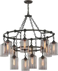 troy f4425 gotham hand worked wrought iron chandelier lamp loading zoom