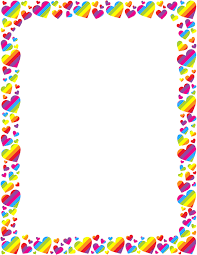 Rainbow Page Border Pin By A Klinekole On Border Paper Heart Border Page Borders