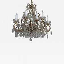 listings furniture lighting chandeliers and pendants twelve light italian gilt metal crystal chandelier