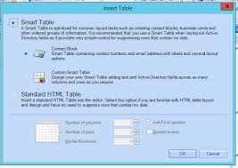 how to use standard html tables