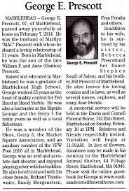obituaries george e prescott