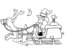 Kleurennu Hohoho Kerstman Op Slee Kleurplaten