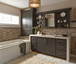 painted cabinets in a casual bathroom by kemper cabinetry