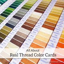 Dmc Color Chart 2018 Printable All About Real Thread Color Cards Needlenthread Com