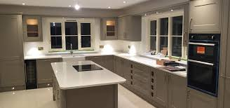 Fitted Kitchens Uk Stone Grey Quartz Kitchen Telford Fitted