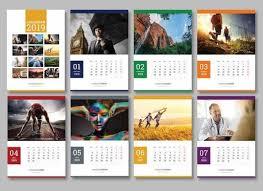 Hade Simple Wall Calendar Design 2019 Template Psd Wall